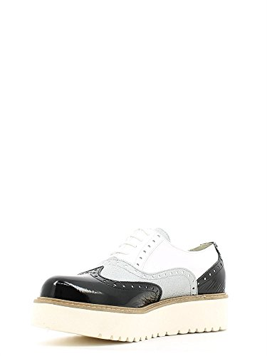 blanco Oxford 79s07649 Zapatos Jeans Mujer Trussardi Cordones para de fUXS8wUaxq