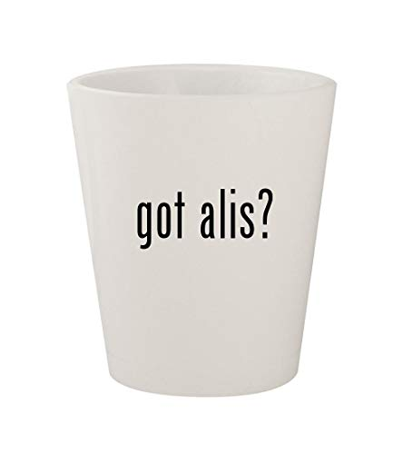 got alis? - Ceramic White 1.5oz Shot Glass