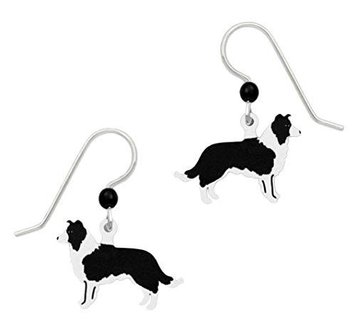 Sienna Sky Border Collie Dog Earrings -