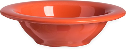 Carlisle 4304252 Durus Rimmed Melamine Fruit Bowl, 4 Oz., Sunset Orange (Pack of ()