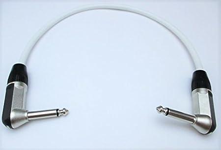 Van Damme Guitar Effects Pedal Patch Cable Rean Neutrik Board FX Angled Lead PRO 25 cm, Black