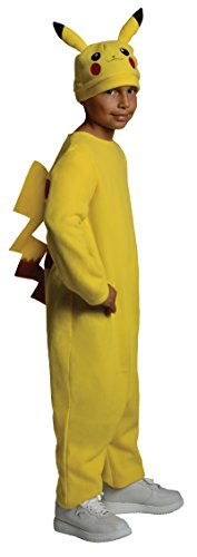 Pokemon Child's Deluxe Pikachu Costume - One Color - Medium (Best Boy Halloween Costumes)