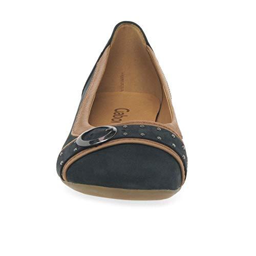 Gabor Donna cognac Blu Ballerine 16 nightblue Casual E1rwq1
