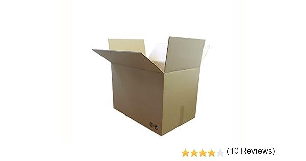 LOTE 5 CAJAS CARTÓN 500x340x310 CARTÓN DOBLE: Amazon.es: Oficina y papelería