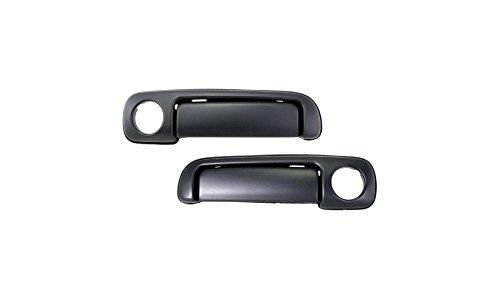 Cougar Side Drivers Door - Evan-Fischer EVA18772066212 Door Handle Set of 2 Exterior Passenger & Driver Side RH LH Front Outer Plastic Primered