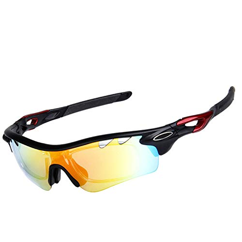 Bubble Boom-bmx-bike-goggles Polarized Bicycle Cycling Sunglasses,Black-Red (Sonnenbrille Polycarbonat)