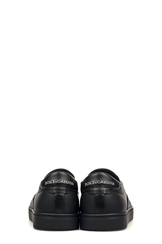 Dolce E Gabbana Slip On Sneakers Uomo CS1365AG278HN692 Pelle Nero