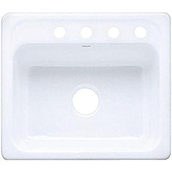 KOHLER K-5964-4-0 Mayfield Self-Rimming Kitchen Sink