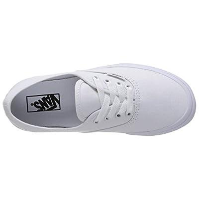 Vans Kids Authentic True White Skate Shoe 3.5 | Fashion Sneakers