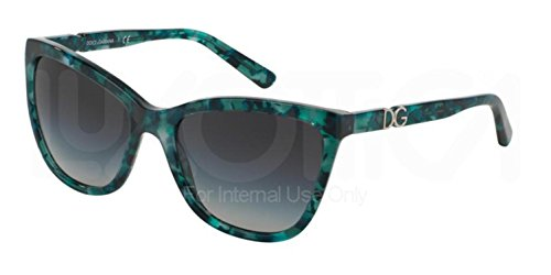 Dolce&Gabbana ICONIC LOGO DG4193M Sunglasses 29118G-56 - Green Marble Frame, Grey - Dolce Of Price And Gabbana Sunglasses
