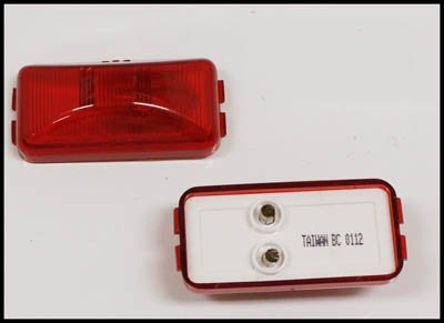 Triton 05544 Red 2.5 Inch Rectangle Clearance Sidemarker Light - 2 Pack by Triton