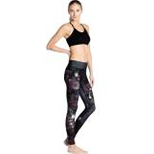 YHHBA Secas de yoga pantalones ajustados de Súper, Primavera / verano de la manera Productos Salud pantalones de chándal-absorbentes transpirables Deportes impresión nueve minutos de pantalones yoga-0016