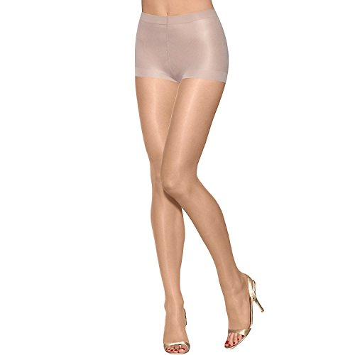 Hanes Silk Reflections Ultra Sheer Toeless Control Top Pantyhose - CD, Bisque