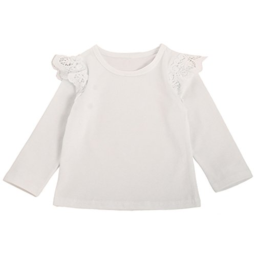 MIOIM Newborn Infant Baby Girls Long Sleeve T-Shirt Blouse Casual Tops (Where To Buy Angel Wings)