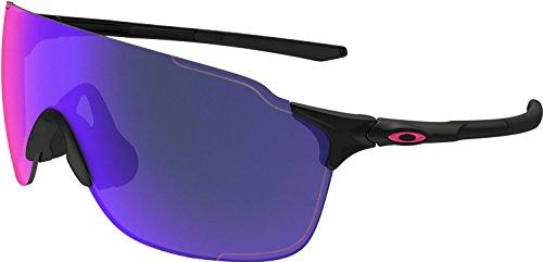 Oakley Men's Evzero Stride (a) Non-Polarized Iridium Rectangular Sunglasses, Polished Black, 38 - Oakley Small Fit Sunglasses