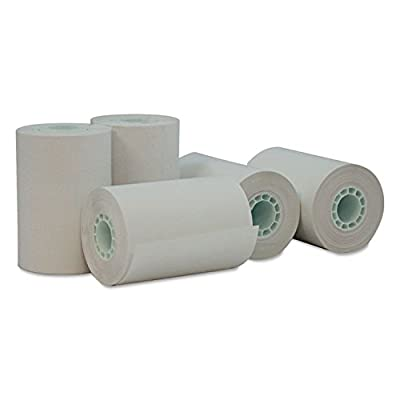 "Universal 35766 Single-Ply Thermal Paper Rolls, 2 1/4"" x 55 ft, White, 50/Carton"