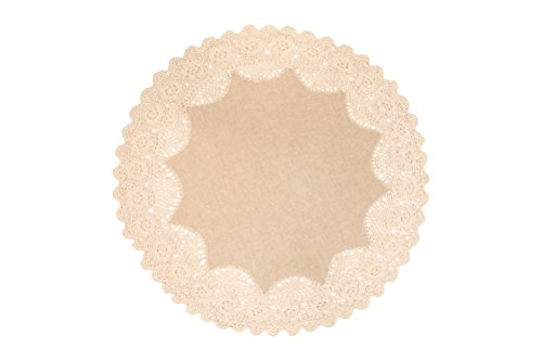 Ribbon Doilies (Heritage Lace Blue Ribbon Crochet Round Doily, 20-Inch, Natural)