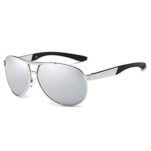 Sunglasses De Gafas para Classic Gafas Silver Hombre Blue Sol Sol Gafas Sol Pilot De Polarizadas Men FKSW De Driving gqIaApn