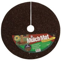 LEONARD Recycled Rubber Mulch Mat Tree Ring - 3 Foot Diam...