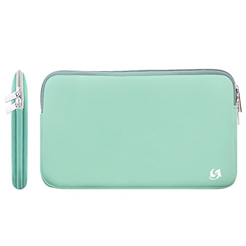 Litop Robin's Egg Blue Color 11 11.6 inch Neoprene Zippered Laptop Sleeve Case Cover Shell for 11.6 inch MacBook Air 12 MacBook and Other 11 Inch Laptop