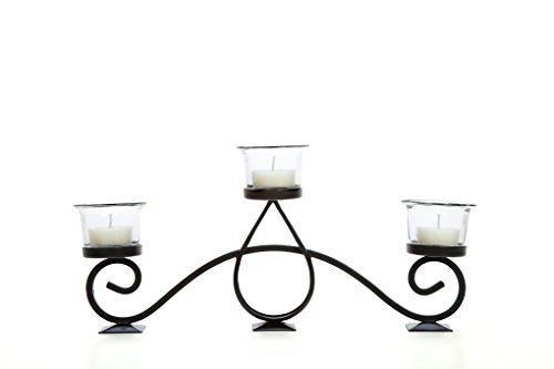 Hosley Teardrop Scroll Tealight Holder- 13'' Long. Ideal Gift Fireplace, Family Room, Spa, Aromatherapy, Votive Candle Gardens. P2 by Hosley