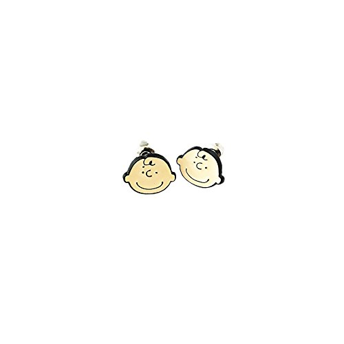 (Charlie Brown Logo Superhero Comics Cartoon Post Stud Earrings In Gift)