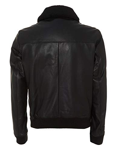 Jacket Black Bomber Boss Gordani Leather Mens Hxw8qPqA