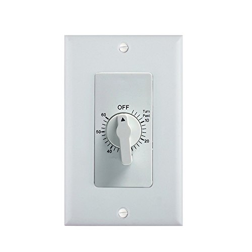 ADB-Century 60-Minute In-Wall Spring Wound Loaded Countdown Timer Mechanical Switch - Decorator Spring Wound Wall