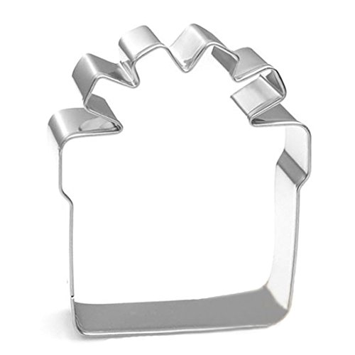 (WJSYSHOP Gift Present Box Cookie Cutter Stainless Steel)