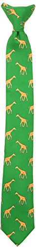 Wembley Big Boy's Boys Novelty Fun Print Clip Tie green, One -