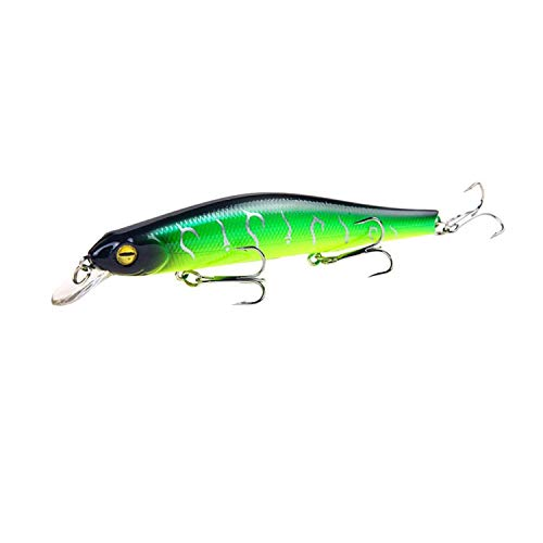 Goodforyou21 1Pcs Fishing Lure Minnow 12.5 cm / 17.7G Topwater Artificial Bait 3D Eyes Plastic Wobblers Fishing Tackle Pesca Ver-Casting Magnet System,5