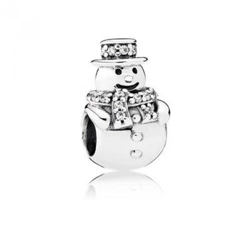 Pandora Snowman (Pandora Charm Bead 792001CZ Woman Silver Snowman)