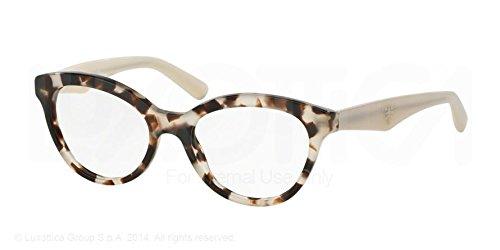 Prada Triangle Eyeglasses PR11RV UAO1O1 Spotted Opal Brown 50 17 - Triangle Prada