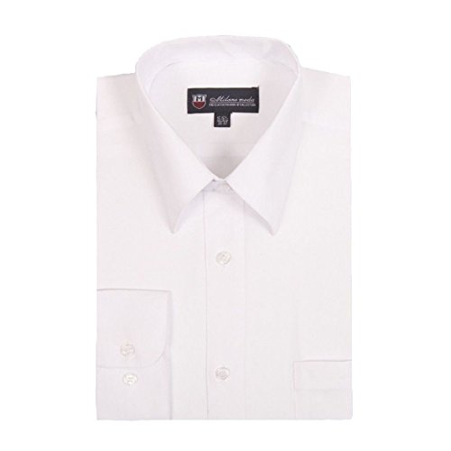 Pointed Collar Shirt (Milano Moda Men's Dress Shirt with Pointed Collar HLSG02 New York Brand)