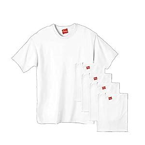 Hanes Ultimate Men's 5-Pack Tagless Comfortsoft Crewneck T-Shirt, White, X-Large