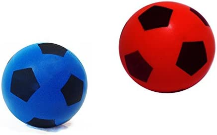 Halsall - Pelotas de Esponja de Espuma Suave, 17,5 cm, Pack of 1 Blue + 1 Red: Amazon.es: Deportes y aire libre
