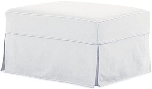 Wondrous The Cotton Ottoman Slipcover Replacement It Fits Pottery Barn Pb Comfort Ottoman Dense Cotton Sofa Footstool Cover Comfort White Gmtry Best Dining Table And Chair Ideas Images Gmtryco