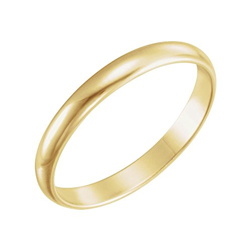 14k Yellow Gold Youth Band Size 3, 14kt Yellow gold, Ring Size 3 by Security Jewelers