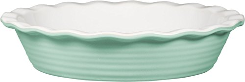 Palais Dinnerware 'Tarte' Collection, Ceramic Pie Dish - 10' Diameter (Mint Green)