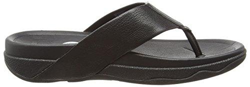 Fitflop Surfer Leather - Sandalias Hombre Negro (Black)