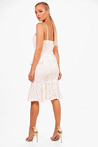 Damen Zitrone Boutique Veronique Lace Peplum Midi Dress Zitrone UA3K6fQlLl
