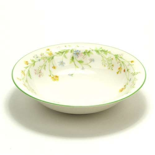 Reverie, Green Trim by Noritake, China Coupe Soup Bowl