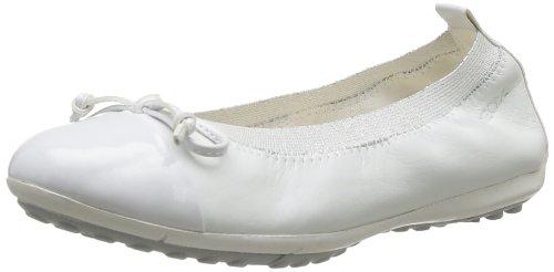 Geox J PIUMA BAL.F, Mädchen Geschlossene Ballerinas, Weiß (WHITEC1000), 34 EU