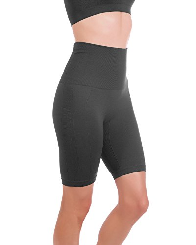 Homma Women's Tummy Control Fitness Workout Running Bike Shorts Yoga Shorts … (X-Large, Charcoal)