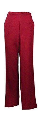 Alfred Dunner Villa D'Este Flat Front Pants Merlot 22W S