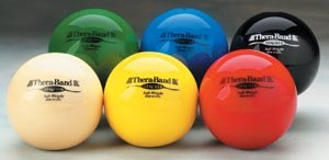 Hygienic/Theraband 25861 Soft Weight Ball, Black, 6.6 lb. (Pack of 6)