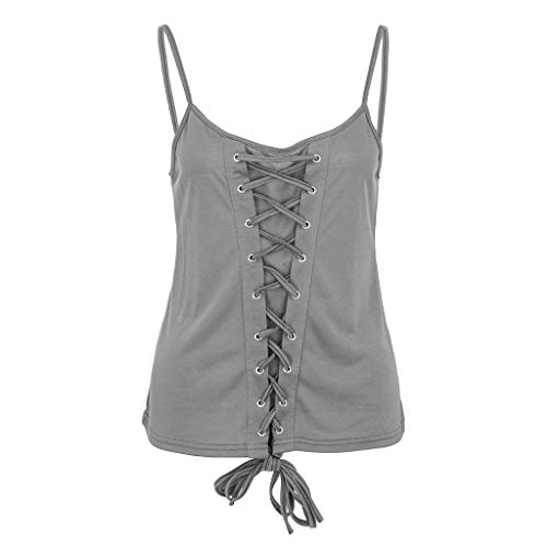 Women's Sleeveless Blouse, Ladies Solid Strapless Bandage Shirt Pullover Tops