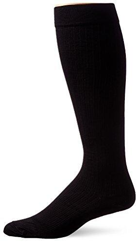 - JOBST SupportWear Socks Men's Dress Knee High Mild Compression 8-15mmHg Black Large Close-Toe 1 PR - Buy Packs and SAVE (Pack of 4)