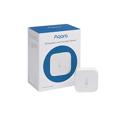 Aqara Temperature and Humidity Sensor, REQUIRES AQARA HUB, Zigbee, for Remote Monitoring and Home Automation, Wireless…
