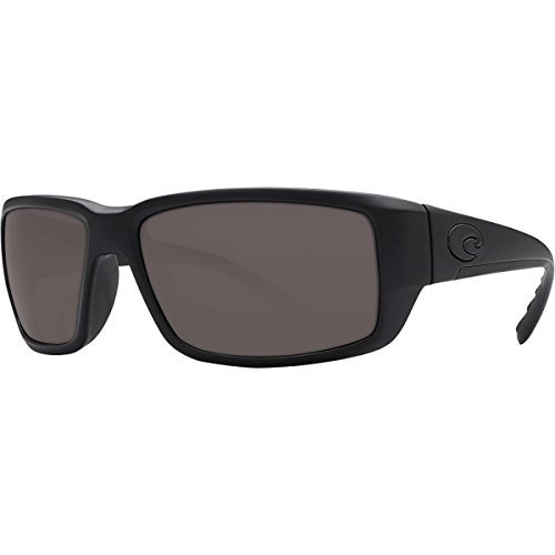 Costa Fantail Blackout Polarized Sunglasses - Costa 580 Glass Lens Gray, One - Fantail Blackout